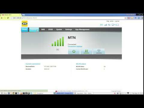Huawei Mobile WiFi E5573 web interface