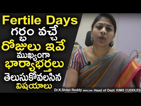 Important Fertile Days to Get Pregnancy | Briefly Explained By Dr. Shilpi Reddy | Health Qube