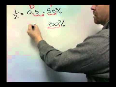 Converting percents into decimals