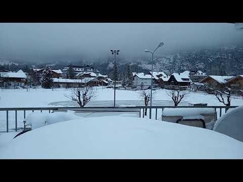 Magic Monk travels to Switzerland during Europe Snowstorm 2019 - Kandersteg part 1