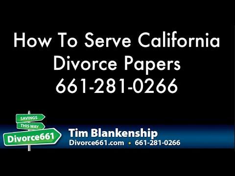 How To Serve California Divorce Papers | California Divorce