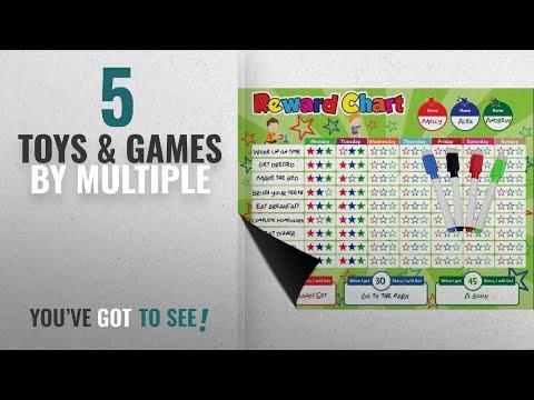 Top 10 Multiple Toys & Games [2018]: Magnetic Behavior / Star / Reward Chore Chart, One or Multiple