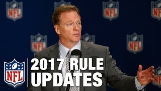2017 Rules Update Press Conference with Roger Goodell, Dean Blandino, and Rich McKay | NFL