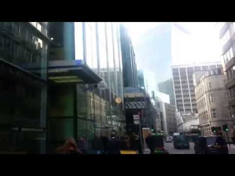 Walking from Aldgate East Station through Fenchurch street (London)