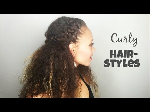 Curly Hairstyles | (My Easy Go-To Braided Hairstyles) | Chassidy Smothers