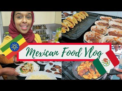 ETHIOPIAN Tries To Cook MEXICAN Food! Taco, Quesadilla, Nacho, Burrito.