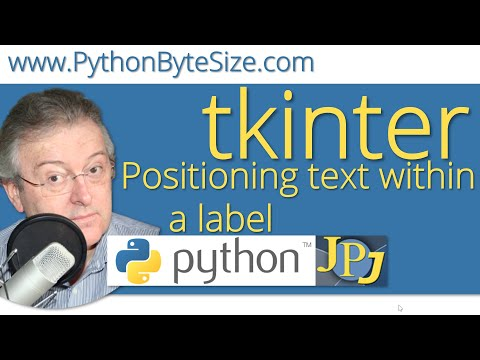 Positioning text within a Python tkinter label