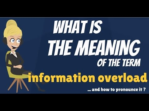 What is INFORMATION OVERLOAD? What does INFORMATION OVERLOAD mean?