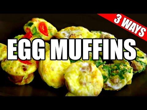 MINI EGG MUFFINS RECIPE 3 WAYS (Healthy, Paleo, Bacon) | Quick & Easy Egg Muffin Cups Recipe