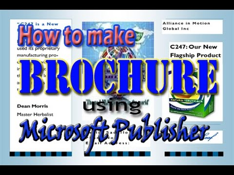 How to make brochure using Microsoft Publisher