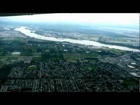 Canadian aircraft is leaving the Vancouver Airport for Seattle.