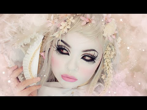 My White Foundation Makeup Routine (Full Coverage) - For Halloween, Shironuri, Cosplay, etc.