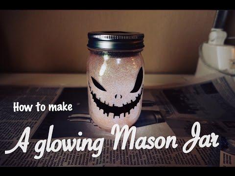 How to create a Glowing Mason Jar