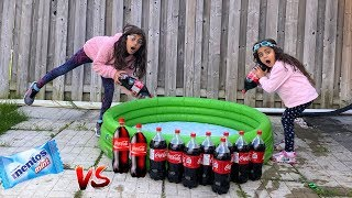 Kids Experiment: Coca Cola vs Mentos in Swimming pool!