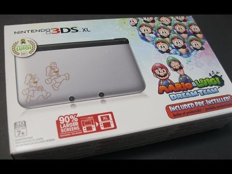 Unboxing: Mario & Luigi Dream Team 3DS XL handheld system