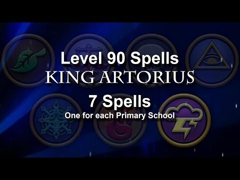 Wizard101 Level 90 King Artorius Spells: All Seven Schools