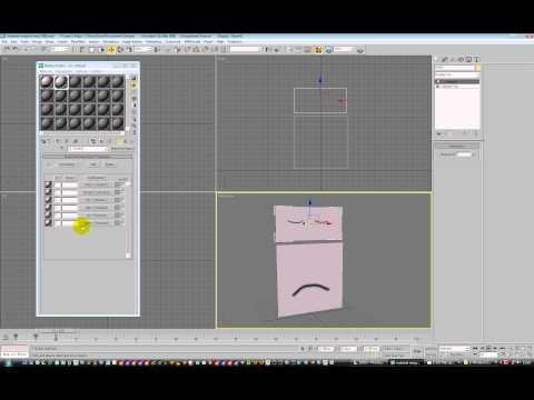 3dsmax 2d texture animated lipsync  with material id's part 2