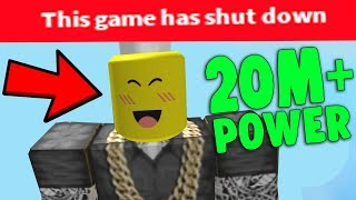 BREAKING THE SERVER WITH 50 MILLION POWER! (Roblox God Simulator)