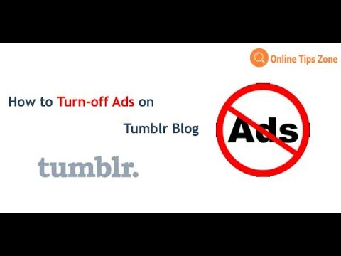How to turn off Ads on Tumblr Blog