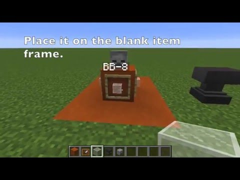 Minecraft:How to build BB 8, Chewbacca, and Lightsabers!