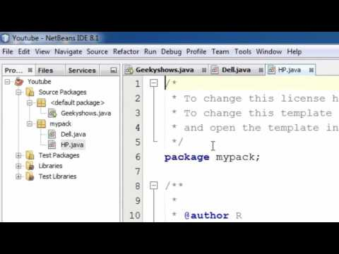149. Create and Save package for Netbeans User in Java Programming (Hindi)