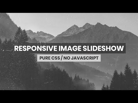 Responsive Image Slideshow   HTML & CSS