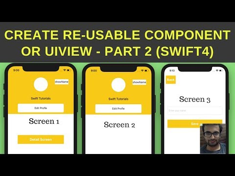 Swift Tutorial: Create re-useable components in swift - Part 2