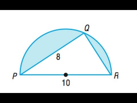 Computing Areas for triangles in circles