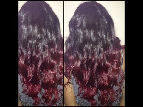 How To [ Red Ombre ]  DIY on your hair / Private Stock Hair Extensions