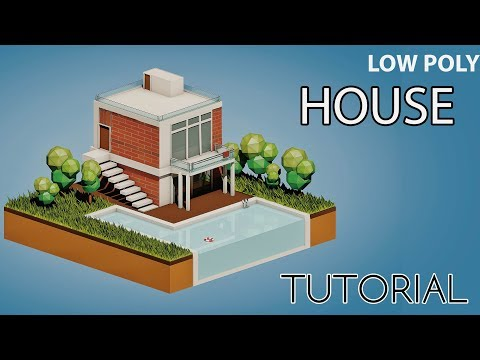 Low Poly House | Cinema 4D Tutorial