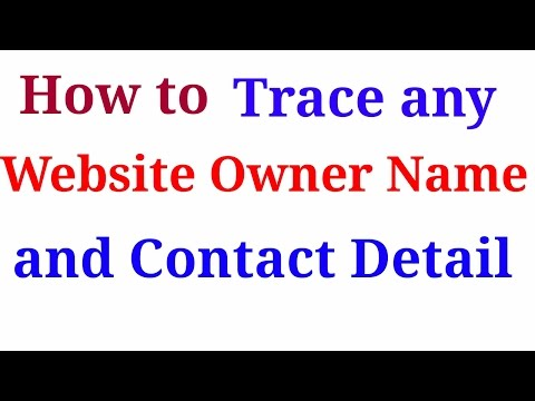 How to Trace any website owner name and contact detail