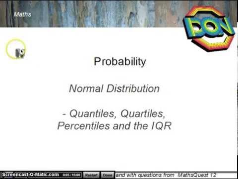 Normal Distribution  - Quantiles