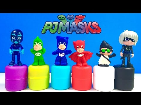 PJ Masks Mold 'n Play  Softee Dough Figure Maker DIY Disney Play-Doh Catboy Owlette