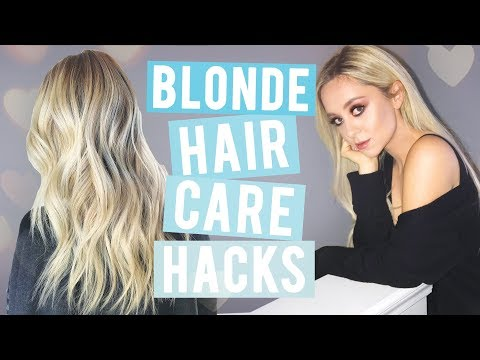 HOW TO GROW YOUR HAIR OUT! + Blonde Hair Care Tips!