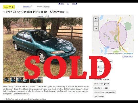 BYE BYE $300 CHEVY CAVALIER 26MPG PROJECT CAR