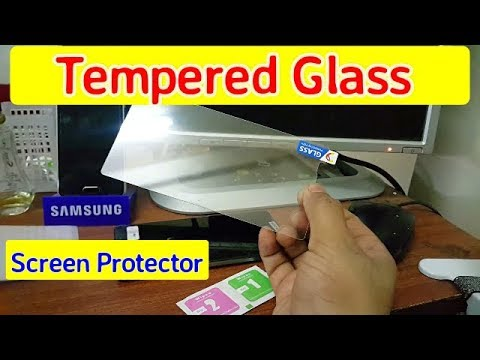 How to put Tempered Glass Screen Protector On Your Mobile Easily 2018