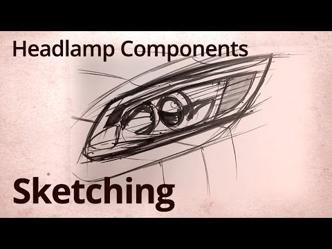 Sketching - The Value of Drawing Smaller Objects - Car Headlamps