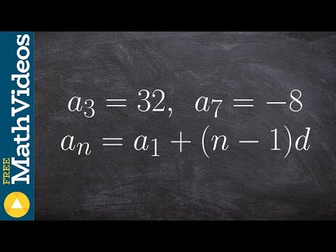 Algebra 2 - Learn how to find the explicit formula of an arithmetic sequence given two terms
