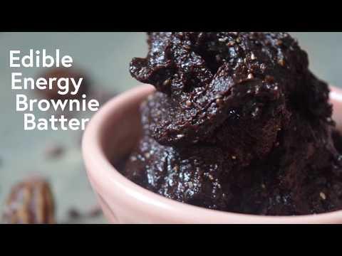 Edible Energy Brownie Batter (Vegan!)
