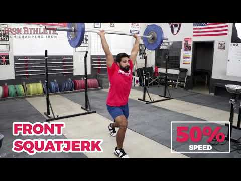 Front SquatJerk (words are pressed to gether to indicate a lack of transition)