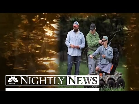 Wounded Veterans Find Peace Through the Serenity of Fly Fishing | NBC Nightly News