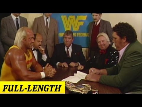 Hulk Hogan and Andre the Giant's WrestleMania III Contract Signing