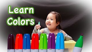 Learn Colors for Kids Fun Toddler Play With Sharpie Markers