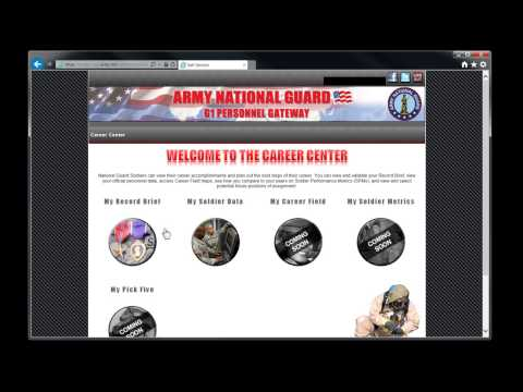 How to locate your National Guard Enlisted Record Brief online