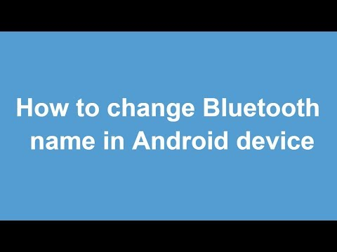 How to change / rename Bluetooth in android device || Learn on YouTube by Ameer Hamza