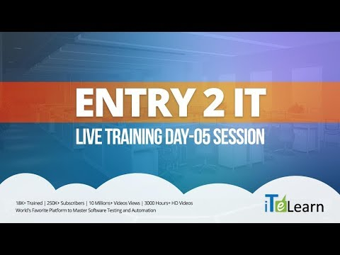 Entry to IT Live Training Day 05 Session - iTeLearn