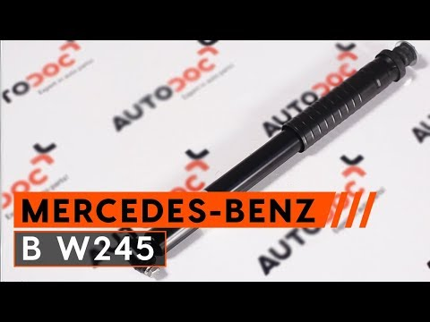 How to replace rear shock absorbers MERCEDES-BENZ B W245 [TUTORIAL AUTODOC]