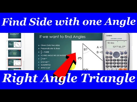 trigonometry right angled triangle how to Find Solve triangle Sides with one angle and one Side