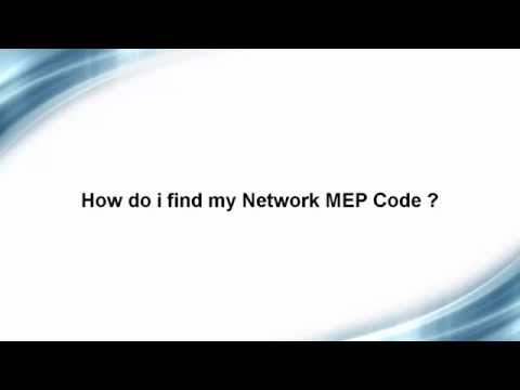 How do I find my BlackBerry Network MEP Code ?