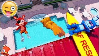 ADVENTURE ANIMATRONICS DIVE OFF 9999 FOOT DIVING BOARD! (GTA 5 Mods For Kids FNAF RedHatter)